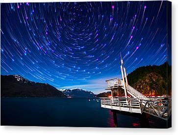 Star Trails Canvas Print - Cosmos by Alexis Birkill