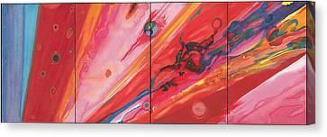 Cosmos Oil On Canvas Canvas Print by Izabella Godlewska de Aranda