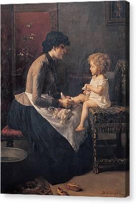 Cosola Demetrio, The Toilet Canvas Print by Everett