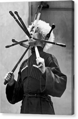Cossack Sword Performer Canvas Print by Underwood Archives