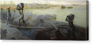 Costa, Giovan Battista 1854-1935. Coal Canvas Print by Everett