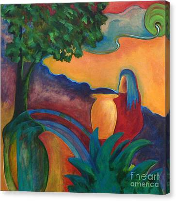 Canvas Print featuring the painting Costa Mango II by Elizabeth Fontaine-Barr