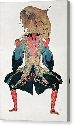 Costume Design For A Chinaman Canvas Print by Leon Bakst