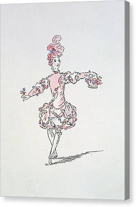 Costume Design For A Young Egyptian Dressed As Spring Canvas Print by French School