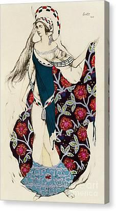 Costume Design Canvas Print by Leon Bakst