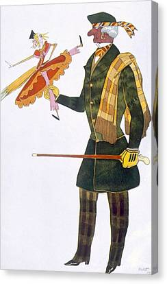 Costume For The Englishman, From La Canvas Print by Leon Bakst