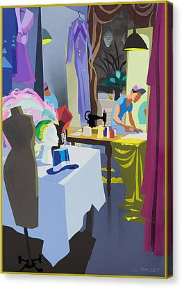 Costume Maker Canvas Print by Clifford Faust