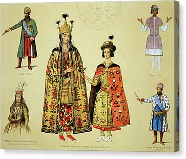 Costumes Of The 17th And 18th Canvas Print