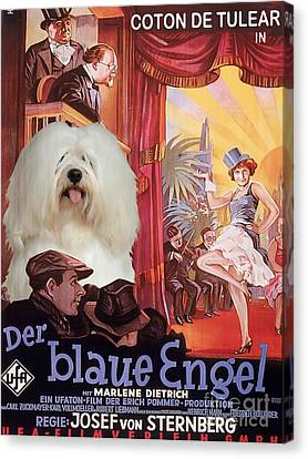 Coton De Tulear Art - Der Blaue Engel Movie Poster Canvas Print by Sandra Sij