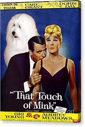 Coton De Tulear Art -that Touch Of Mink Movie Poster Canvas Print