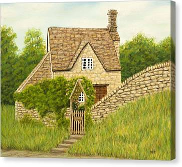 Cotswold Cottage Canvas Print by Rebecca Prough