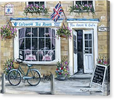 United Kingdom Canvas Print - Cotswold Tea Room by Marilyn Dunlap