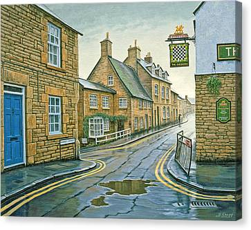 Cotswold Village-rainy Day Canvas Print by Paul Krapf