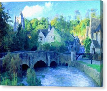 Cotswolds Of England Canvas Print by Georgiana Romanovna
