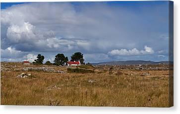 Cottage And Rocky Barren Landscape Canvas Print