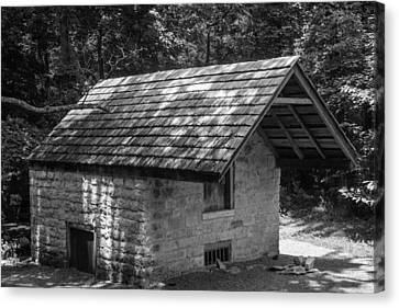 Canvas Print featuring the photograph Cottage By The Stream At The Hermitage by Robert Hebert