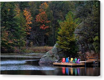 Cottage Country Canvas Print by Jim Vance