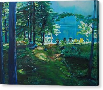 Cottage Deck View Canvas Print