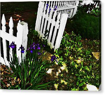 Cottage Entry  Canvas Print by Chris Berry