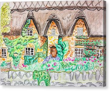 Cottage Front Canvas Print by Pati Photography