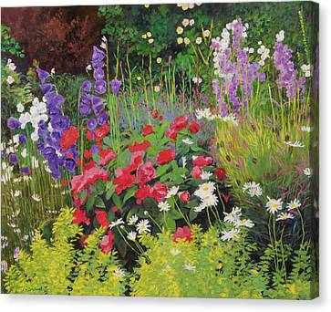 Horticultural Canvas Print - Cottage Garden by William Ireland