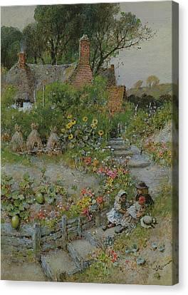 Cottage Garden In Summer Canvas Print