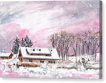 Cottage For Girls In The Black Forest In Germany Canvas Print by Miki De Goodaboom
