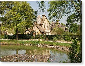 Canvas Print featuring the photograph Cottage In The Hameau De La Reine by Jennifer Ancker