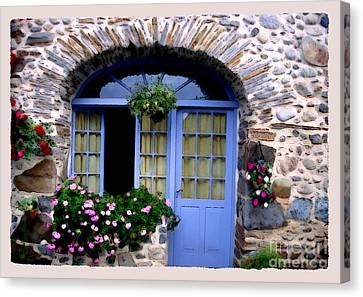 Cottage In Village St Jean Les Buzy Canvas Print by Linda  Parker