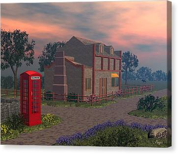 Cottage Lane Canvas Print by John Pangia