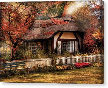 Cottage - Nana's House Canvas Print by Mike Savad