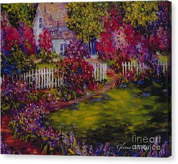 Cottage Of My Heart's Delight Canvas Print