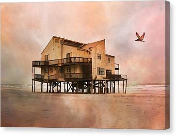 Cottage Of The Past Canvas Print by Betsy Knapp
