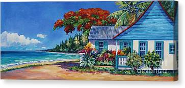 Cottage On 7-mile Beach Canvas Print by John Clark