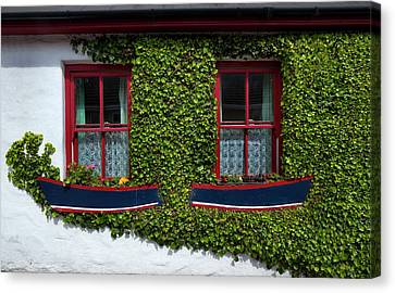 Cottage Windows, Kinsale,county Cork Canvas Print by Panoramic Images