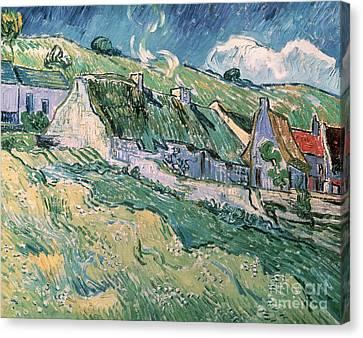 Cottages At Auvers Sur Oise Canvas Print