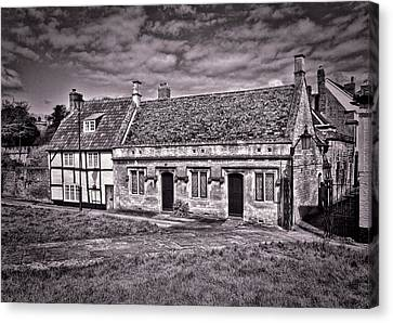 Canvas Print featuring the photograph Cottages Devizes -1 by Paul Gulliver
