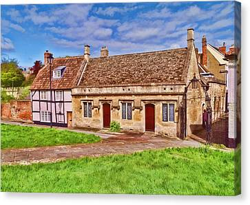 Canvas Print featuring the photograph Cottages Devizes -2 by Paul Gulliver