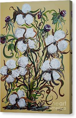 Cotton #2 - Cotton Bolls Canvas Print by Eloise Schneider