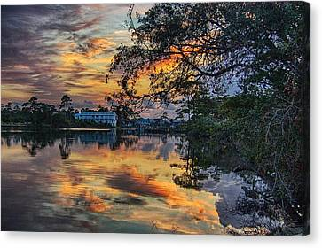 Cotton Bayou Sunrise Canvas Print by Michael Thomas