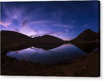 Purple Shadow Canvas Print - Cotton Candy by Aaron Bedell