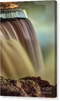Cotton Candy Falls Canvas Print by Darleen Stry