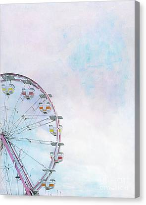Cotton Candy Ferris Wheel Canvas Print by Kay Pickens