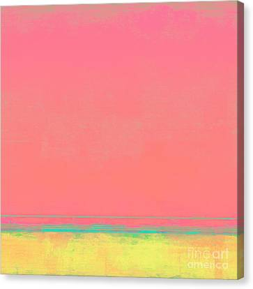 Cotton Candy Beach Canvas Print by Lonnie Christopher