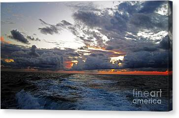 Cotton Candy Sky 2 Canvas Print by Alison Tomich