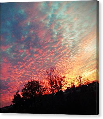 Cotton Candy Sky Canvas Print by Joetta Beauford