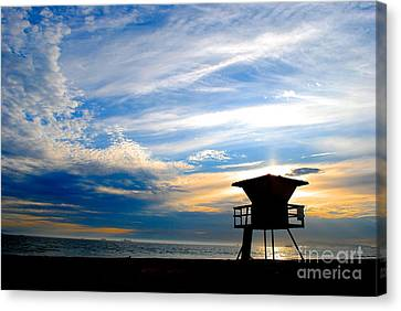 Canvas Print featuring the photograph Cotton Candy Sky by Margie Amberge