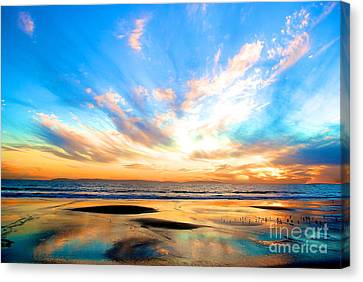 Cotton Candy Sunset Canvas Print by Margie Amberge