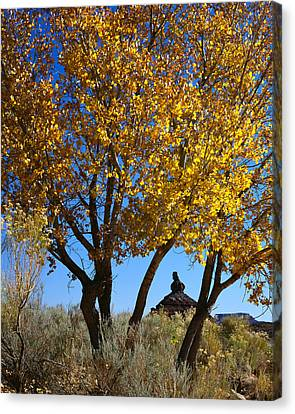 Cottonwood And Nipple Butte-v Canvas Print
