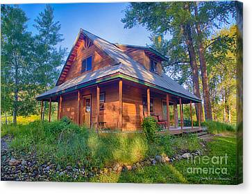 Cottonwood Cottage  Canvas Print